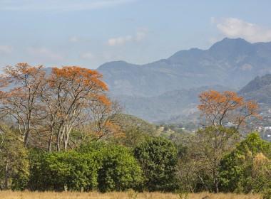 foto panoramica a las montañas